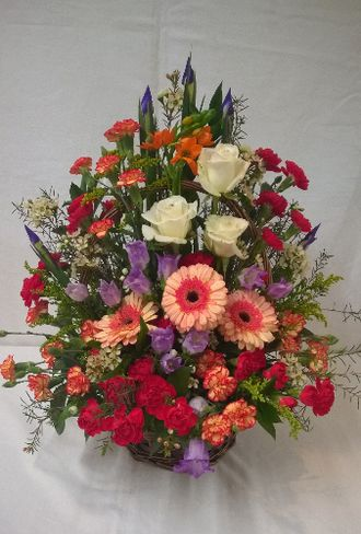 Front Facing flower basket