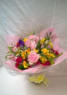 Hand tied flower bouquet