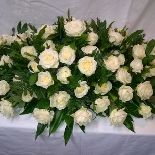 Coffin Flower Arrangement