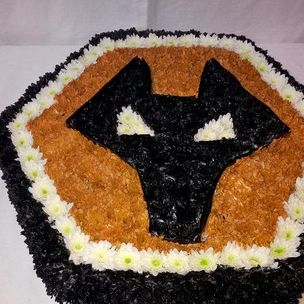 Wolves Emblem in flowers