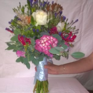 Brides Hand tied wedding bouquet