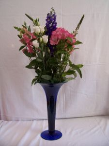 Flowers with flower vase gift