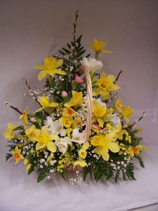 Easter Yellow Flower Basket