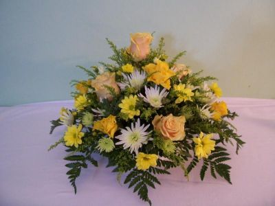 Funeral flower posy arrangement