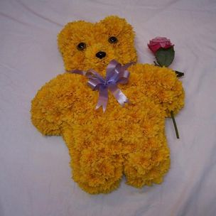 Teddy Bear in flowers