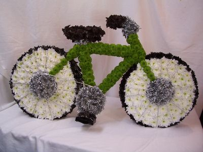 Funeral flowers Mountain push bike
