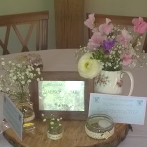 Table Display for English Country Garden Wedding Theme