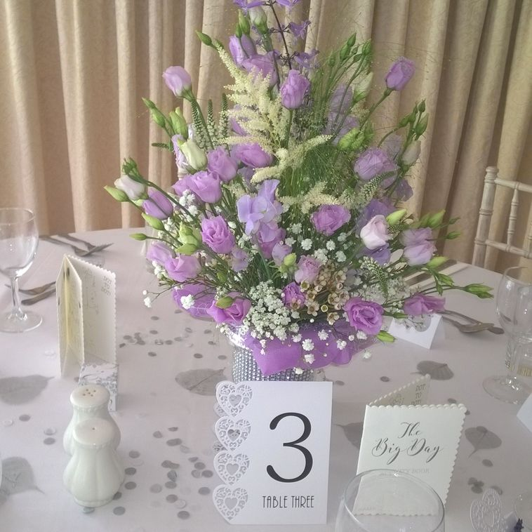 Table Display in Lavender