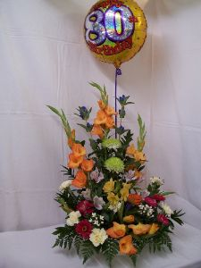 Front Facing Arrangement with Balloon