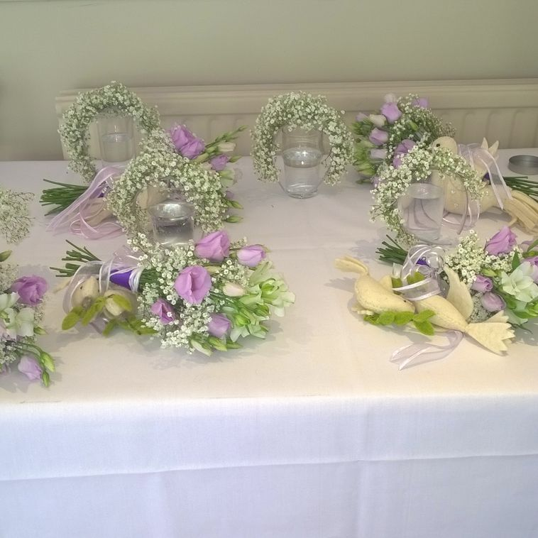 Bridesmaids Flowers in Lavender