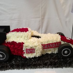 F1 Racing car in flowers