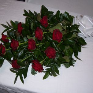 Coffin Flower Hand Tied