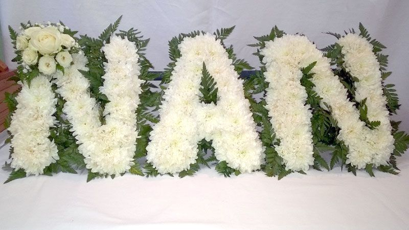 Fueral Letters in flowers NAN
