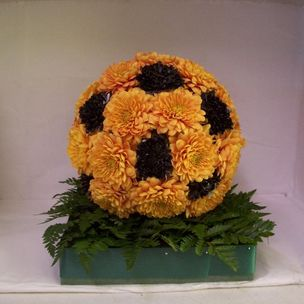 Football in flowers