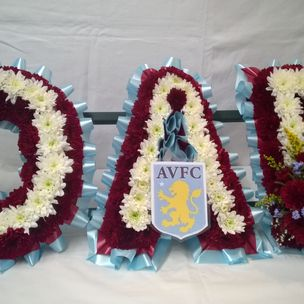 Flower letters for funerals